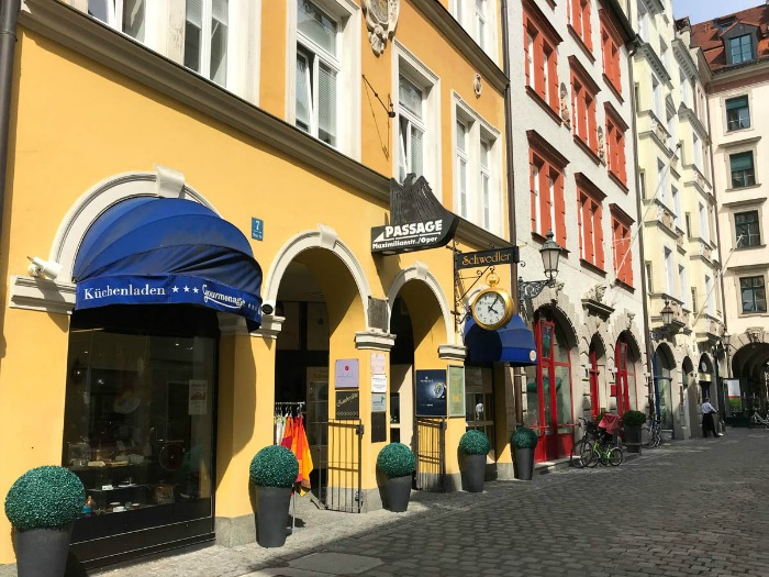 The streets of Munich, Germany are full of beautiful architecture.