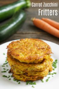 These carrot and zucchini fritters are the perfect way to use fresh summer produce! Their unique flavor makes them hard to resist.