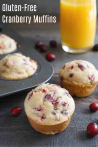 These gluten free cranberry muffins are such a delicious snack! It's an easy, healthy recipe that's full of fall flavor.
