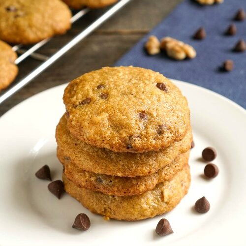 These steel cut oats cookies are such a delicious snack. They're also healthy enough to eat for breakfast!