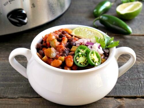 Healthy Crockpot Chili Vegan Dinner Recipe From Real Food Real Deals