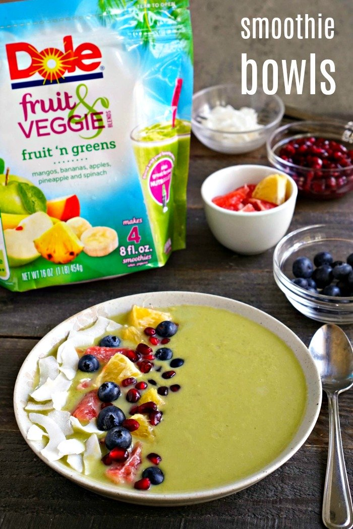 Healthy smoothie bowls are a fun way to eat lots of produce. Garnish these vegan smoothies with your favorite toppings for the ultimate healthy snack.