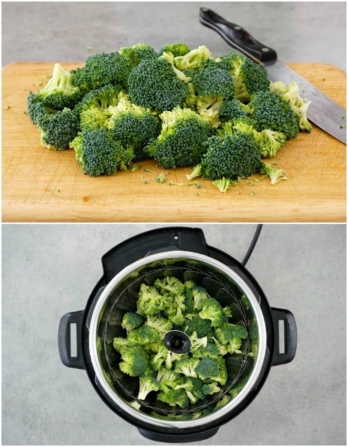 Steamed broccoli in the Instant Pot pressure cooker comes out perfectly every time.