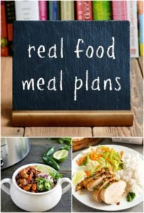 These weekly real food meal plans will help you to save time, money, and sanity. Serve your family healthy food with these weekly meal plans on a budget.