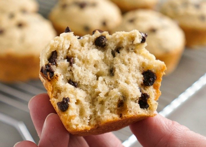 The texture of the banana oatmeal chocolate chip muffins is so good!