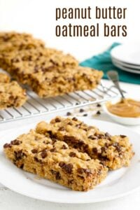 Peanut butter oatmeal bars are the perfect healthy snack!