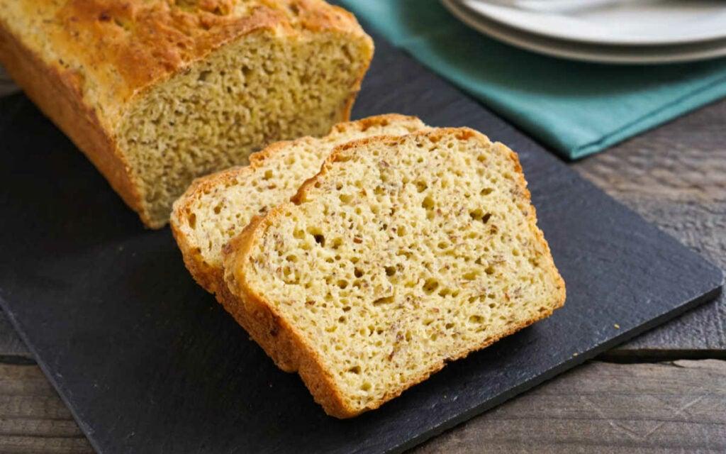 Millet bread on a cutting board