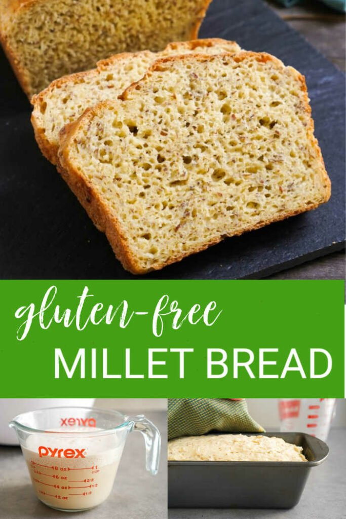 Gluten free millet bread collage