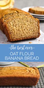 Oat flour banana bread collage