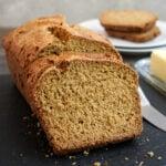 Gluten free oat bread slices