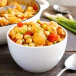 Cauliflower curry in a bowl