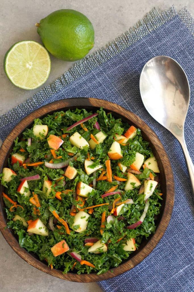 Kale slaw in bowl