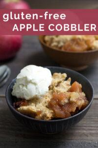 Gluten free apple cobbler bowl