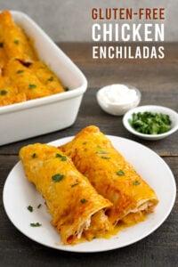 Gluten free enchiladas on a plate