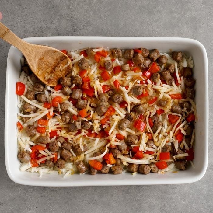 Ingredients in the pan