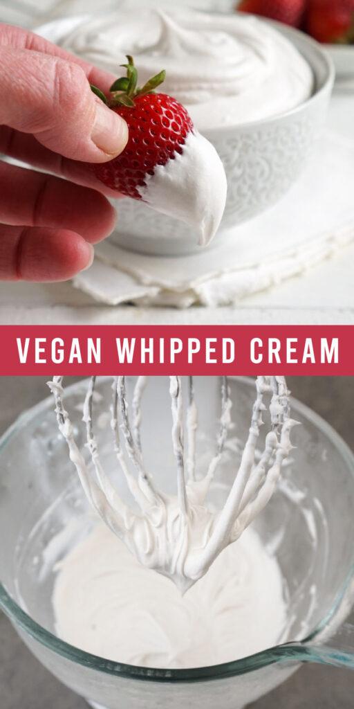Vegan whipped cream collage