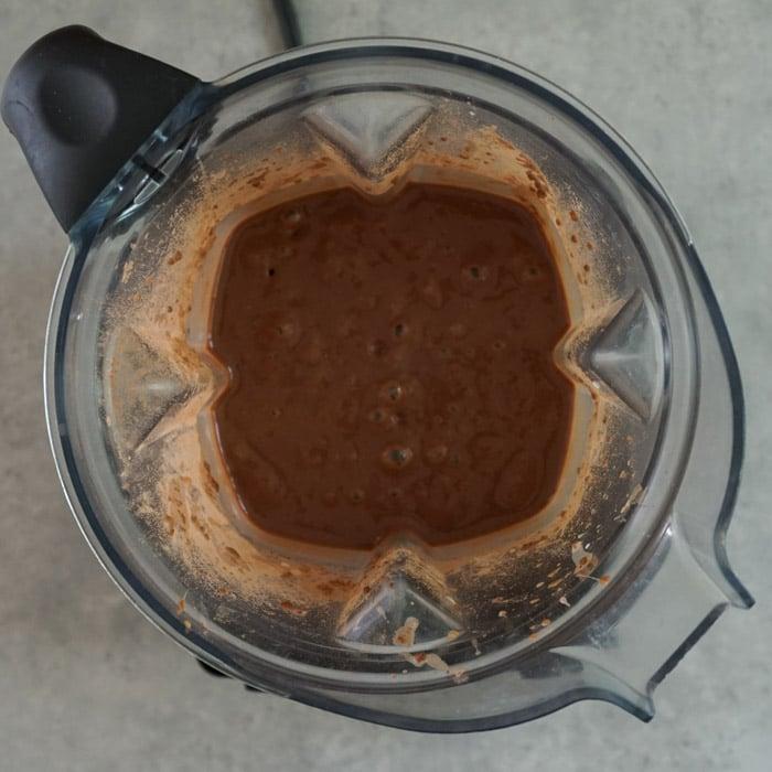 Mixture in the blender after blending