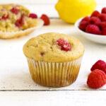 Gluten free lemon raspberry muffins