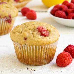 Gluten free raspberry lemon muffins