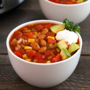 Slow cooker freezer meal chili