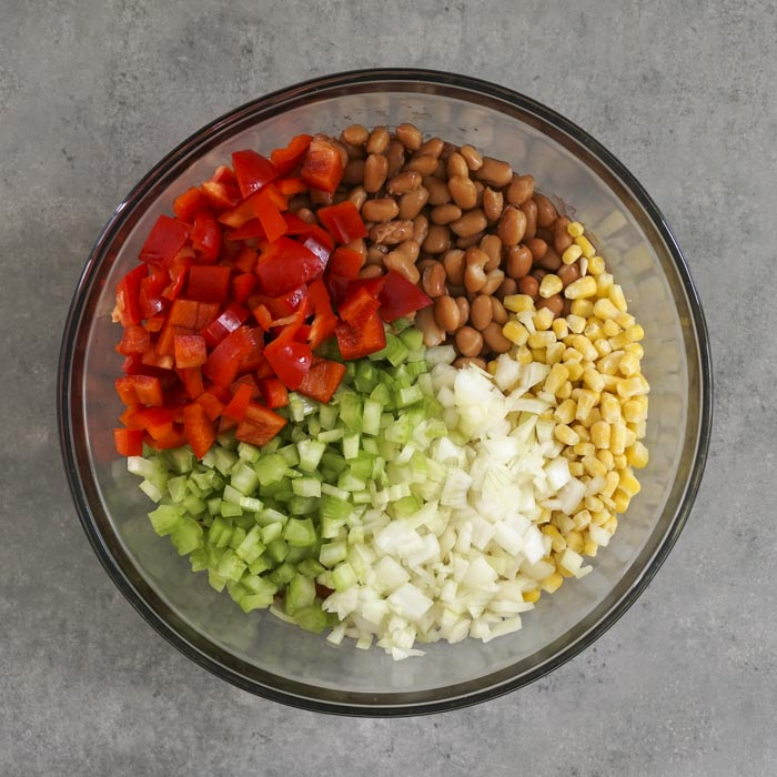 Chili ingredients in a bowl