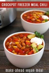 Crockpot freezer meal chili